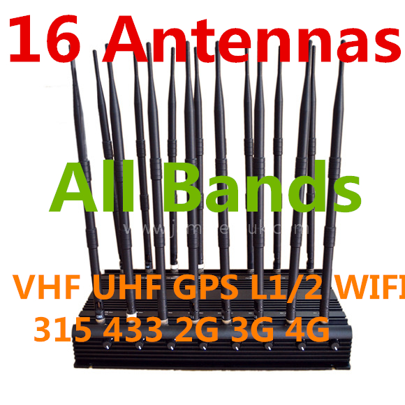 Where to buy gps jammers - Adjustable High Powerful 16 Antennas All Bands Signal Blocker [D16] - £529.00 :